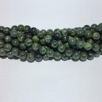 Groene Jaspis glans bolvorm 9.5mm