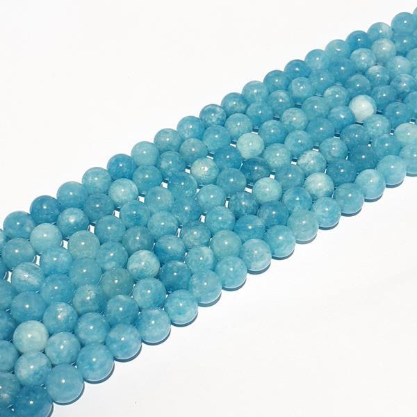 Blauwe agaat glans bolvorm 10mm