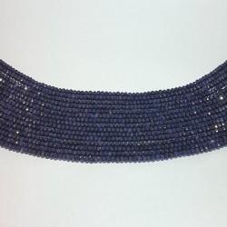 Donkerblauwe agaat facet rondelle 3x2mm