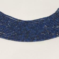 Donkerblauwe agaat facet rondelle 4x3mm