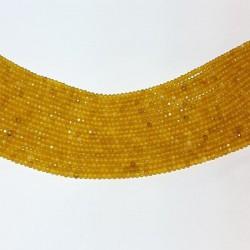 Gele agaat facet rondelle 3x2mm