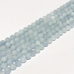 Lichtblauwe agaat glans bolvorm 10mm