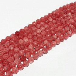 Roze agaat glans bolvorm 10mm