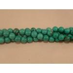 10mm Turkoois streng glans bolvorm gestabiliseerd [UITVERKOCHT]